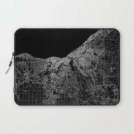 Cleveland map Ohio Laptop Sleeve