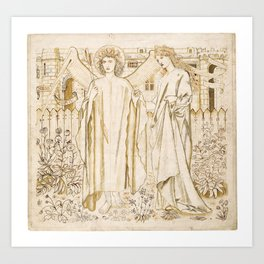 "Edward Burne-Jones ""Chaucer's 'Legend of Good Women' - Amor and Alcestis"" Art Print"