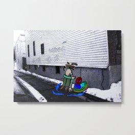 Corner Alley Metal Print
