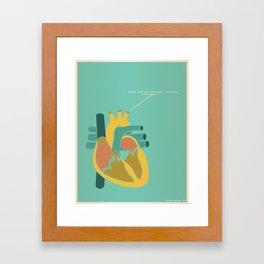 Aorta Tell You How Much I Love You Framed Art Print
