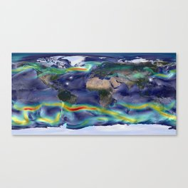 A Portrait of Global Winds Canvas Print