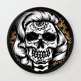 Marlyn skull Wall Clock