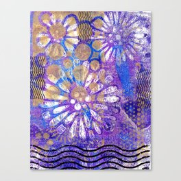 Pattern in Purples and Blues Canvas Print