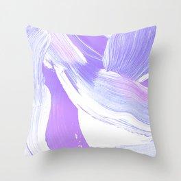 Shades of Purple Brush Stroke pattern #abstractart Throw Pillow