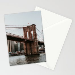 Skyline with Brooklyn Bridge | Colourful Travel Photography | New York City, America (USA) Stationery Cards