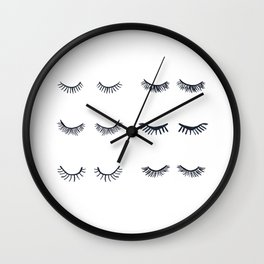 All The Eyelashes Wall Clock