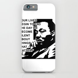 Martin Luther King Jr Quote iPhone Case