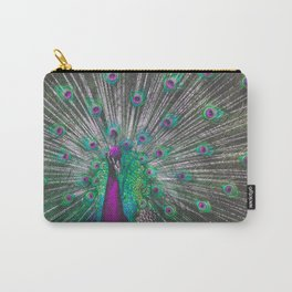Psychedelic Peacock Carry-All Pouch