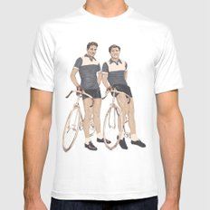 Le Tour  Mens Fitted Tee White MEDIUM