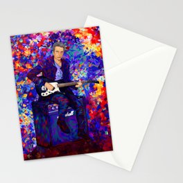 12th Doctor abstract art Stationery Cards