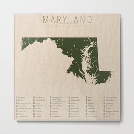 Maryland Parks Metal Print