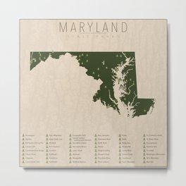 Maryland Parks Metal Print
