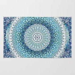 Teal Tapestry Mandala Rug