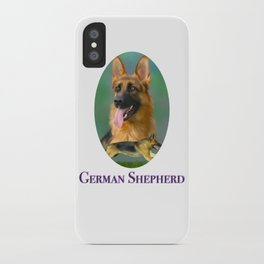 German Shepherd Breed Art with Name Plate iPhone Case