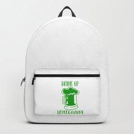 Drink Up Leprechauns Green Beer Drinking St Patricks Backpack
