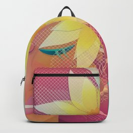Girl with Pink Hair Backpack