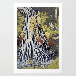 Hokusai Katsushika - Kirifuri waterfall at Kurokami mountain in Shimotsuke Art Print
