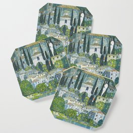 Gustav Klimt - Church in Cassone Coaster