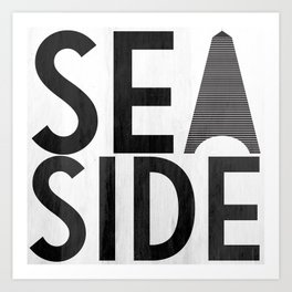 Seaside Typography 2 Art Print