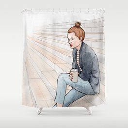 BnF - BFM* Shower Curtain