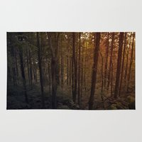 poland Area & Throw Rugs featuring Forest in Poland by vikfdz