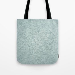 Gray Blue Retro Geometric Waltz Tote Bag