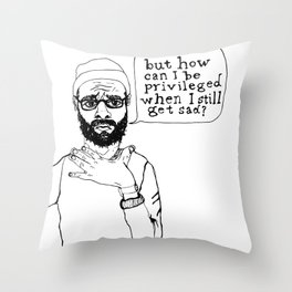K. A. M. Throw Pillow