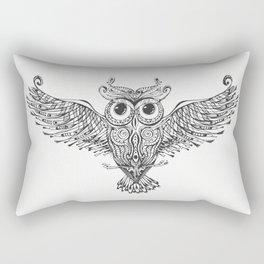 Owl Trace B&W Rectangular Pillow