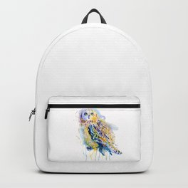 Short Eared Owl Watercolor painting Backpack