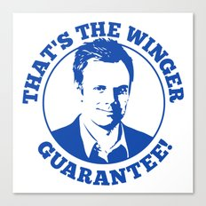 Winger Guarantee Canvas Print