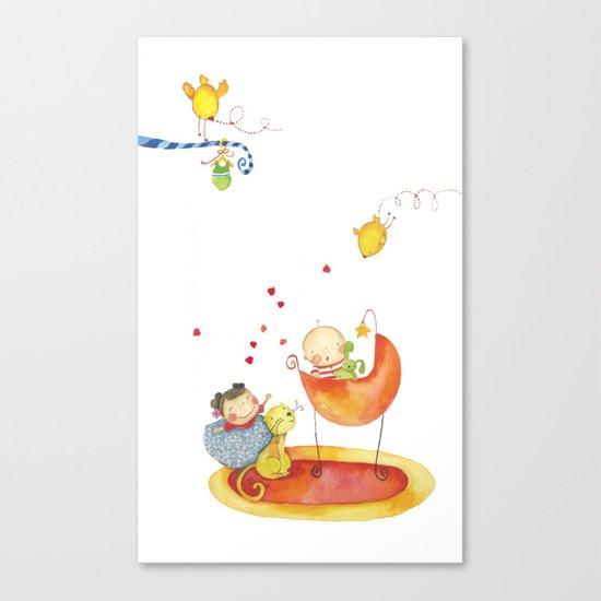 Baby surprise Canvas Print