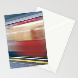 Speeding in London Underground Station Stationery Cards