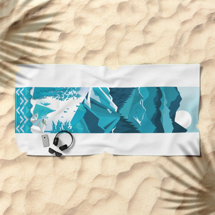 In The Ice Cold North Beach Towel