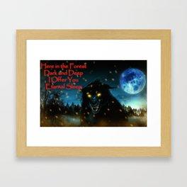 Wolf alone Framed Art Print