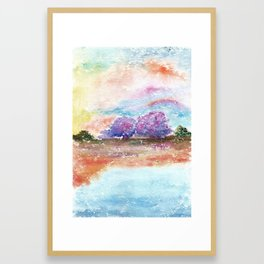 A Beautiful Day Watercolor Illustration Framed Art Print