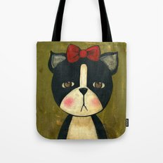 Portrait Of A Boston Terrier Dog Tote Bag