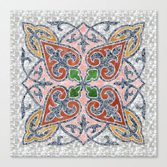 Blue Oriental Tile 03 Canvas Print