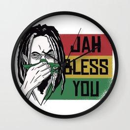 Jah Bless You Wall Clock