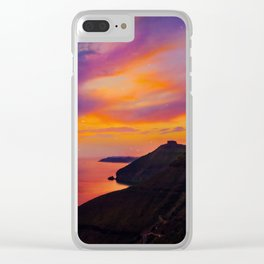 Santorini,Fira,Sunset Clear iPhone Case