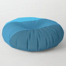 Blue Gradient Pattern Floor Pillow