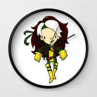 rogue Wall Clocks featuring ROGUE by Space Bat designs