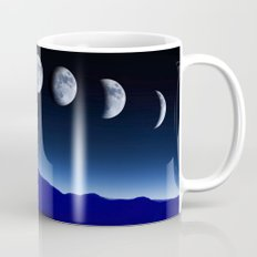 Moon Phases #blue Mug