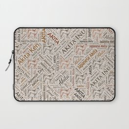 Akita dog Word Art Laptop Sleeve