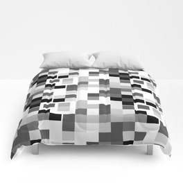 Grayscale Squares Comforters