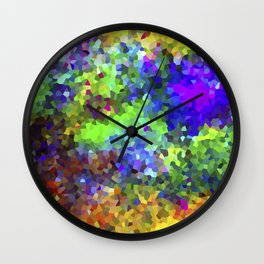 Aquarela_Textura digital  Wall Clock