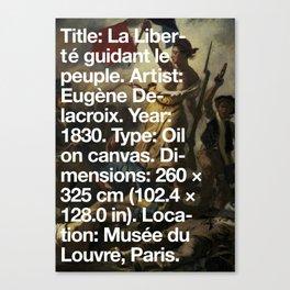 Liberty Leading the People, Eugène Delacroix, Musée du Louvre, Paris  Canvas Print