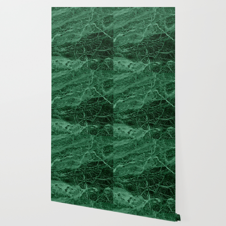 Dark Emerald Marble Texture Wallpaper By Mydream Society6