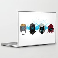 pacific rim Laptop & iPad Skins featuring Pacific Rim: Kaiju Kill Count by MNM Studios
