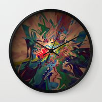 chaos Wall Clocks featuring Chaos by lillianhibiscus