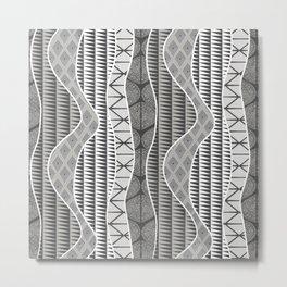 Wrap in Charcoal Metal Print